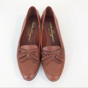Salvatore Ferragamo Boutique Brown Tassel Loafers